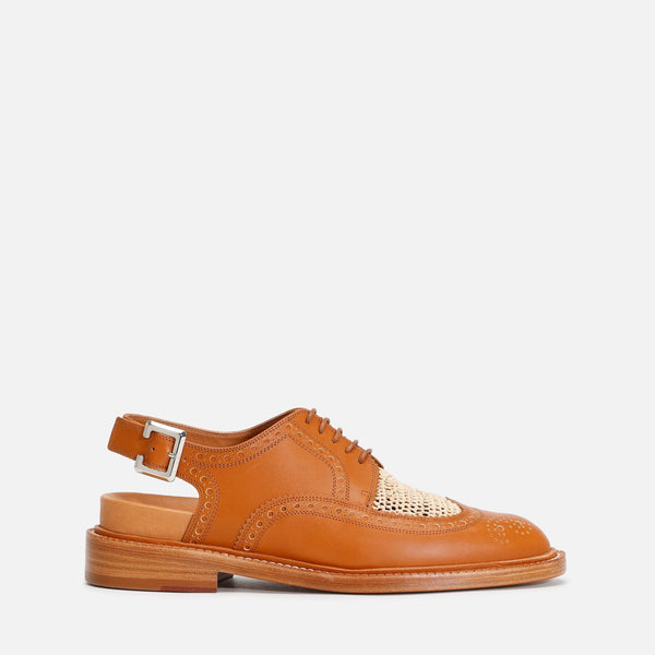 DERBIES GINA, COGNAC & NATUREL