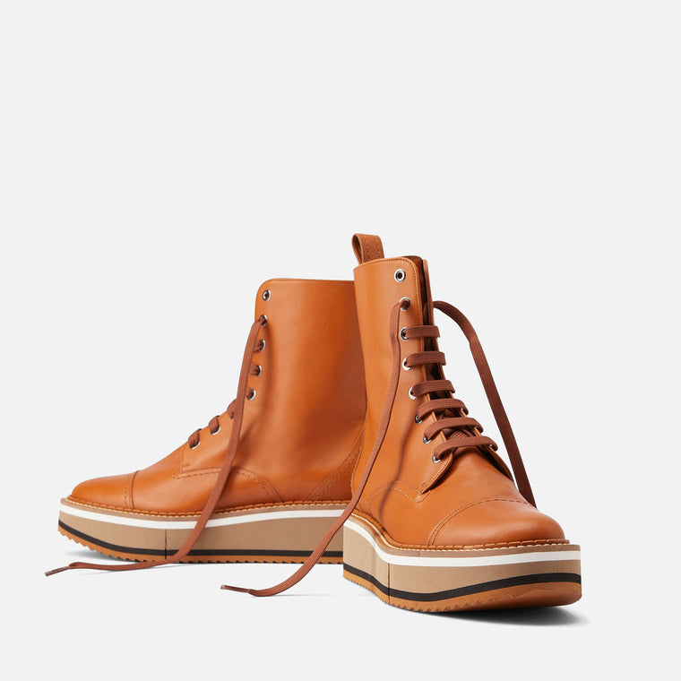 BOTTINES BRITISH, COGNAC