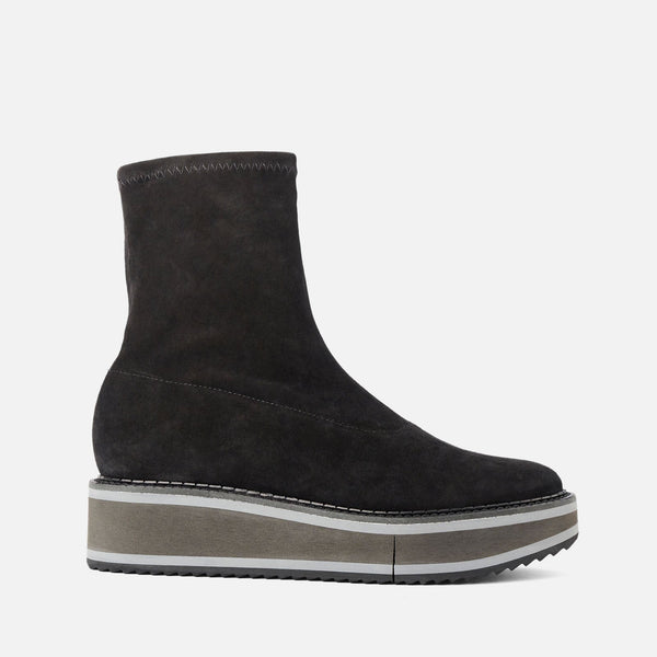 BOTTINES BERTA, VELOURS NOIR