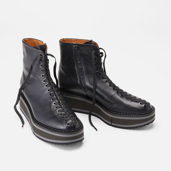 BOTTINES BRODIE, NOIR