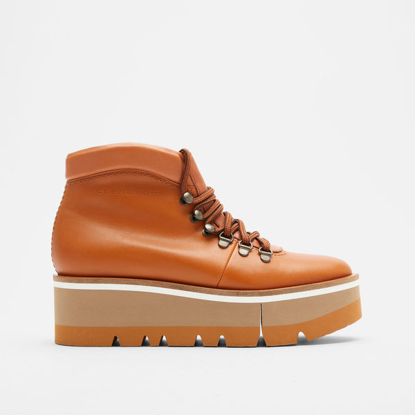 BOTTINES BUBBLE, COGNAC