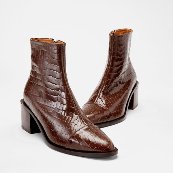 BOTTINES XIANA, MARRON