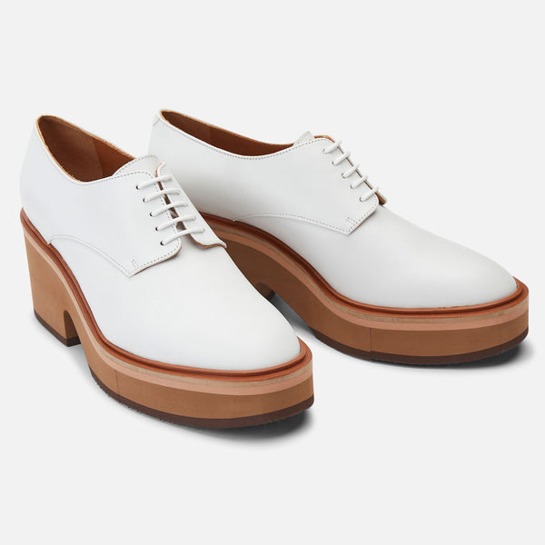 DERBIES AGATHE, BLANC