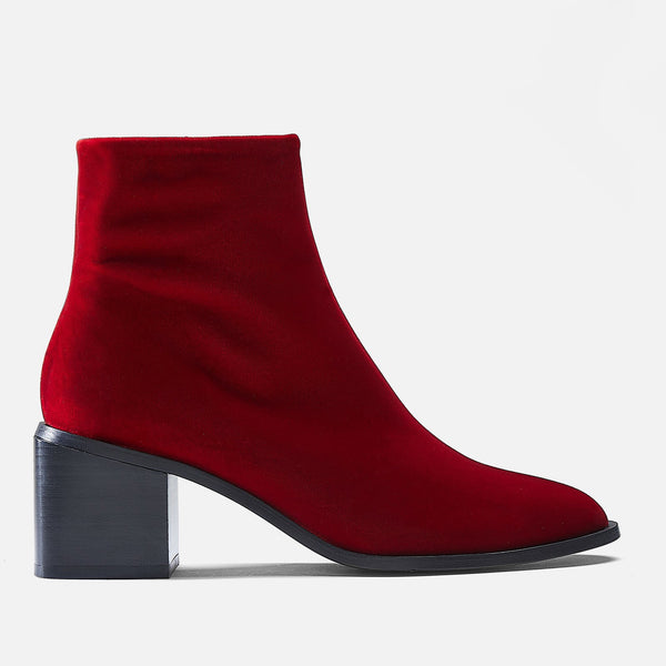 BOTTINES XENIAT, ROUGE