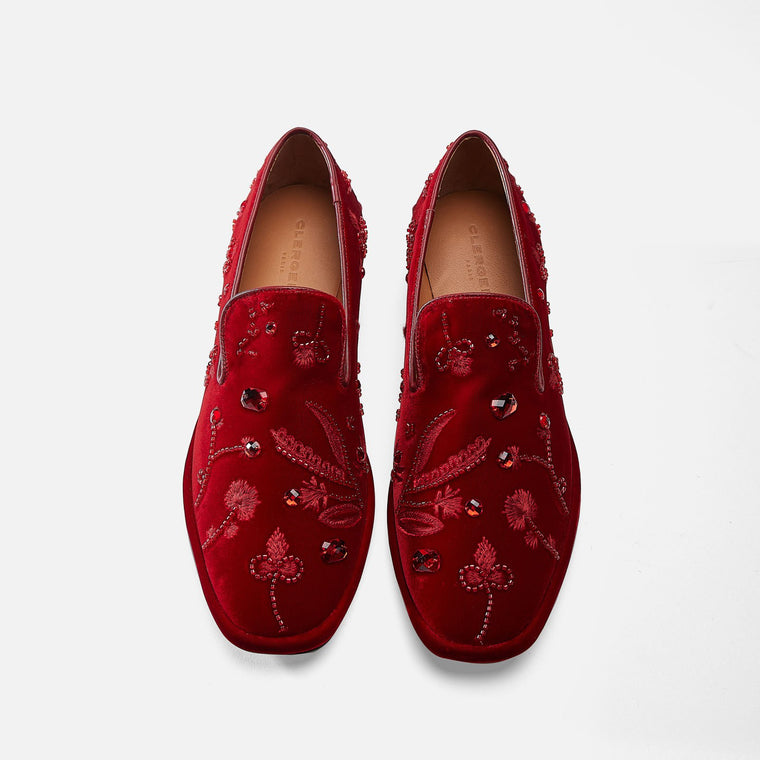 MOCASSINS OLIA, ROUGE