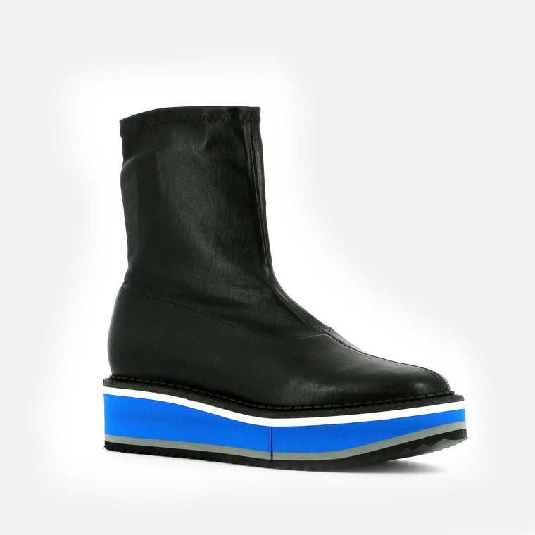 BOTTINES BERTA, NOIR & BLEU