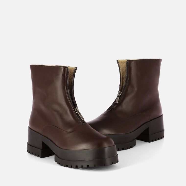 BOTTINES WYLLO, MARRON