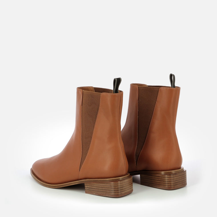 BOTTINES XAB, COGNAC