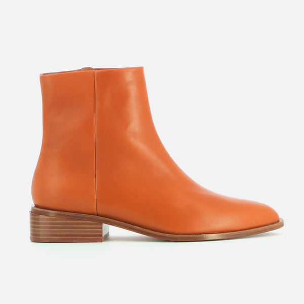 BOTTINES XENON, COGNAC