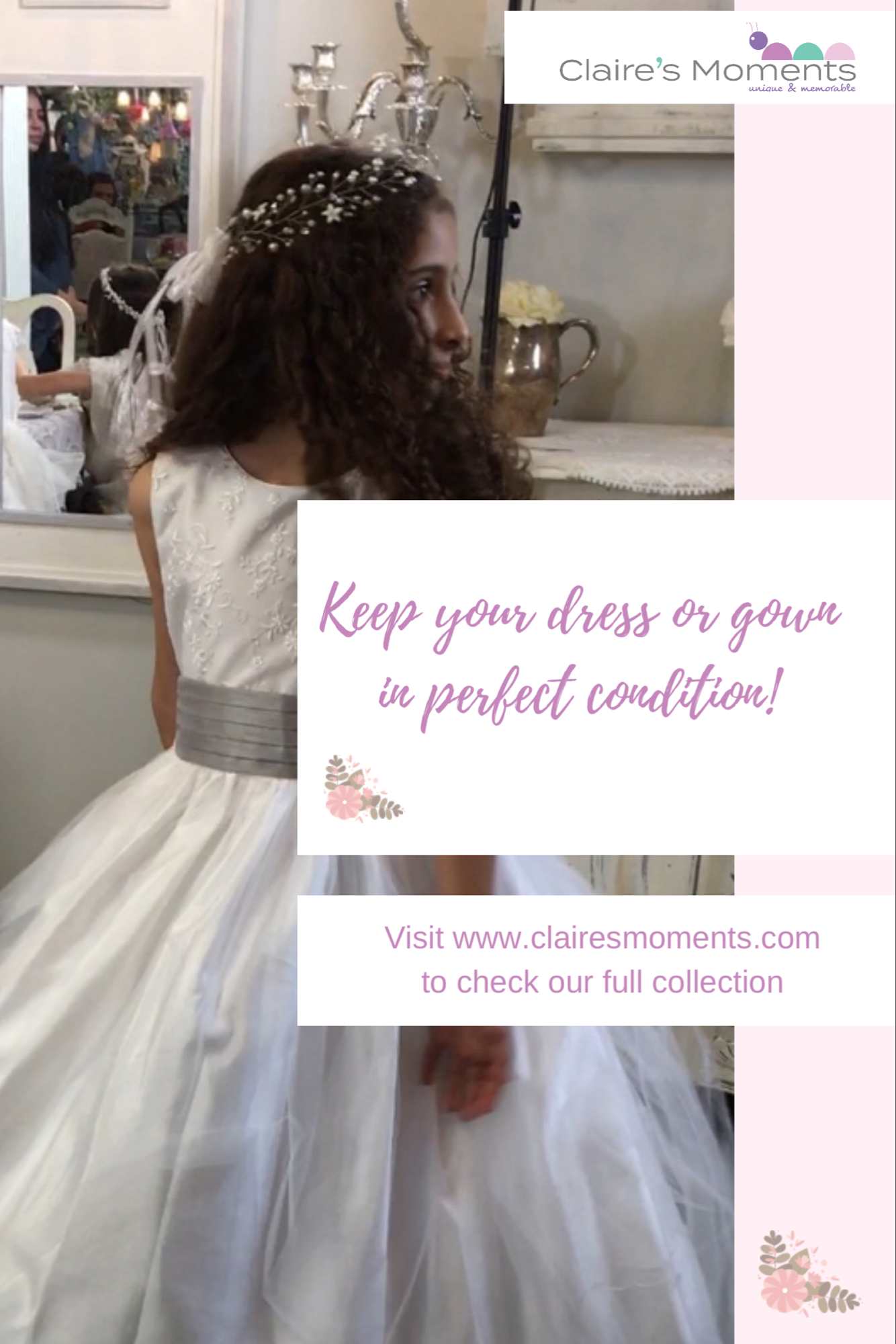 Keep your dress or gown in perfect condition!