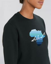 SWEAT COL ROND UNISEX 100% ORGANIC🌿SIORS® AFRISHADE BLUE - SIORSCLOTHING