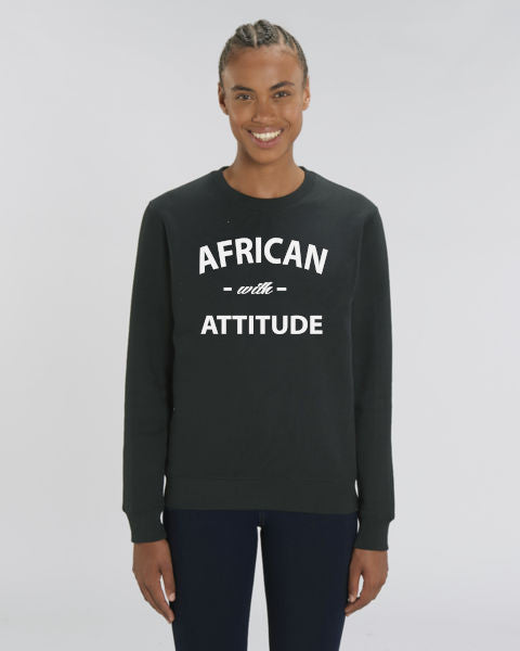 SWEAT COL ROND UNISEX 100% ORGANIC🌿SIORS® AFRICAN WITH ATTITUDE - SIORSCLOTHING