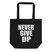 TOTE BAG BIO NEVER GIVE UP - SIORSCLOTHING Vétements