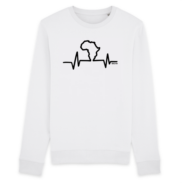 SWEAT-SHIRT COL ROND 100% ORGANIC 🌿 SIORS® AFRICA HEART BEAT - SIORSCLOTHING