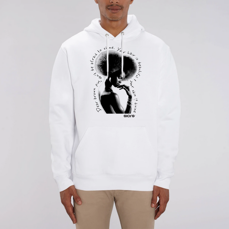 HOODIE BLANC SIORS®  DIVINE AFRO - SIORSCLOTHING Vétements
