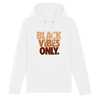 HOODIE BLANC SIORS® BLACK VIBES ONLY - SIORSCLOTHING Vétements