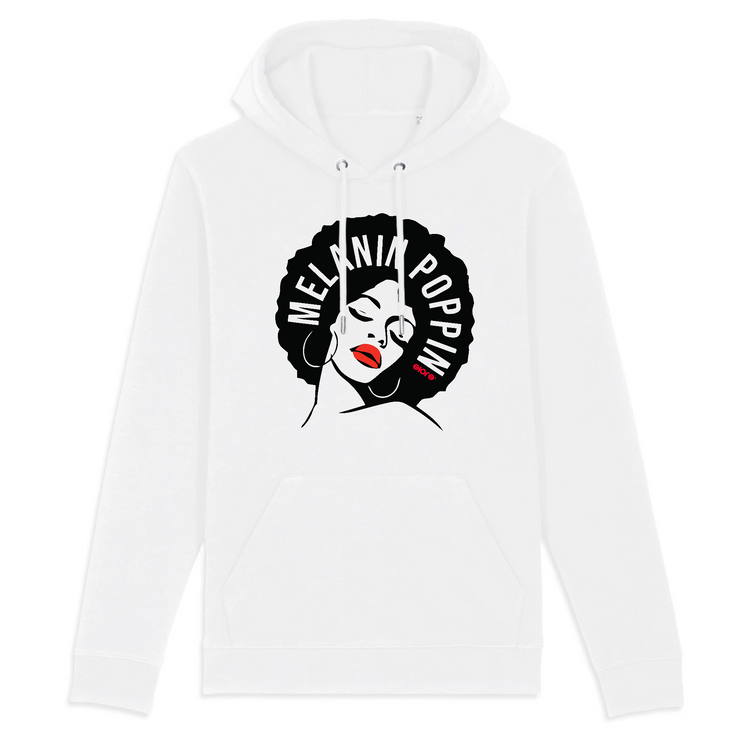 HOODIE BLANC SIORS® MELANIN POPPIN - SIORSCLOTHING Vétements