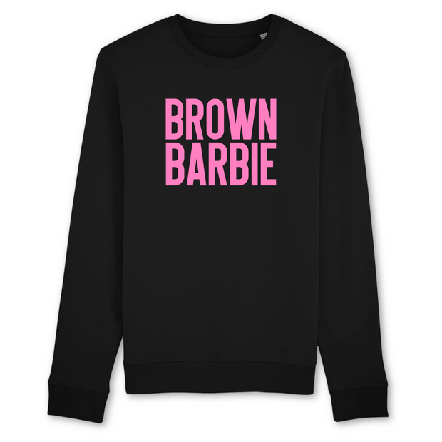 SWEAT-SHIRT COL ROND 100% ORGANIC 🌿 SIORS®  BROWN BARBIE - SIORSCLOTHING