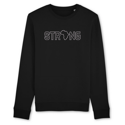 SWEAT-SHIRT COL ROND 100% ORGANIC 🌿 SIORS® STRONG AFRICA - SIORSCLOTHING