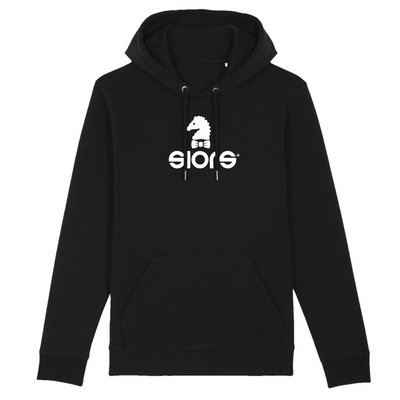 HOODIE BLACK SIORS® HIPPO - SIORSCLOTHING
