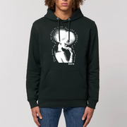 HOODIE NOIR SIORS®  DIVINE AFRO - SIORSCLOTHING