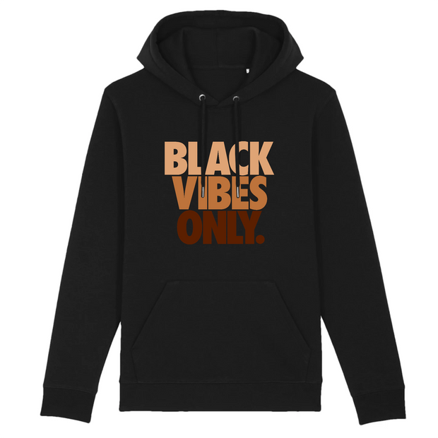 HOODIE NOIR SIORS® BLACK VIBES ONLY - SIORSCLOTHING
