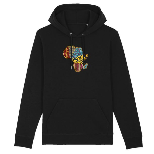 HOODIE BLANC SIORS® AFRICA WAX - SIORSCLOTHING