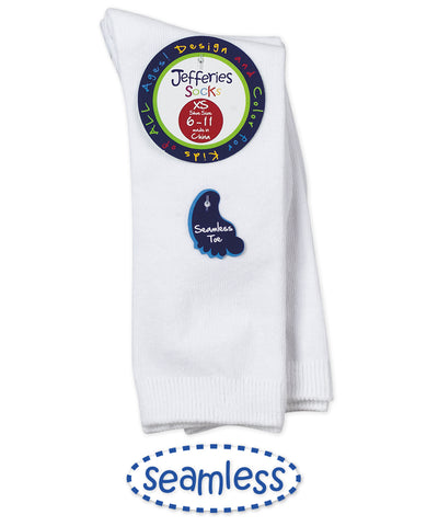 Seamless Big Hug Knee High 2 PK- White (1600)