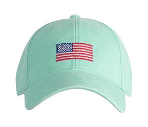 American Flag on Keys Green ADULT Hat