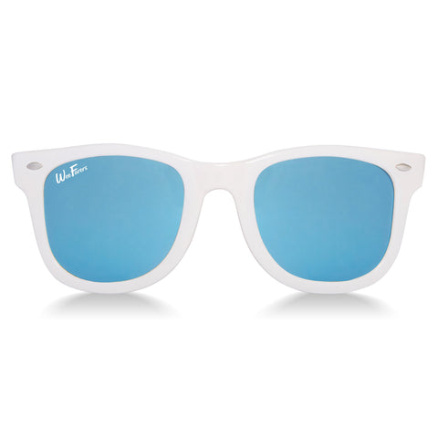 Polarized WeeFarers - White/Sky Blue