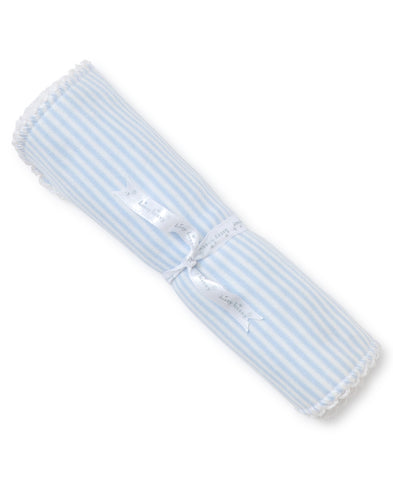 Light Blue Stripes Burp Cloth