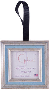 Frame Ornament-Silver/Blue