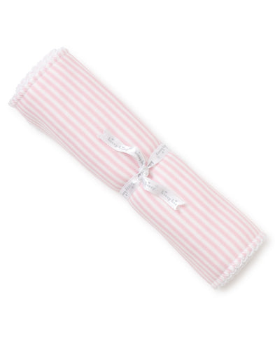 Pink Stripes Burp Cloth