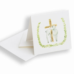"""Lamb and Cross"" Enclosure Card"