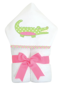 Alligator Everykid Towel - Pink