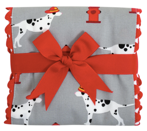 Firetruck Fancy Fabric Burp Pad