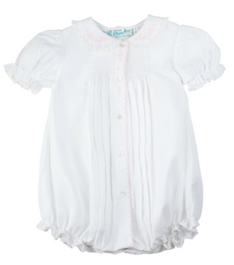 Scalloped Open Front Bubble - White