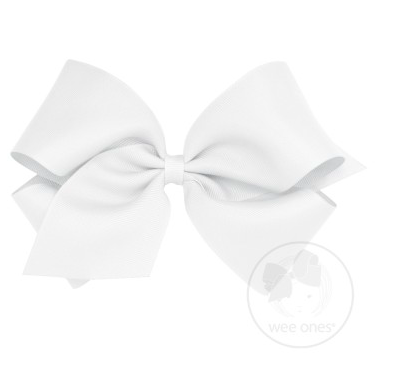 White Grosgrain Bow