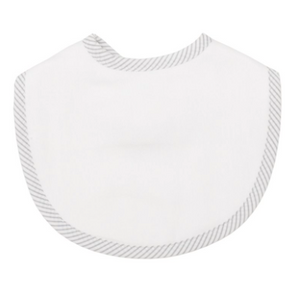 Grey Seersucker Stripe Medium Bib