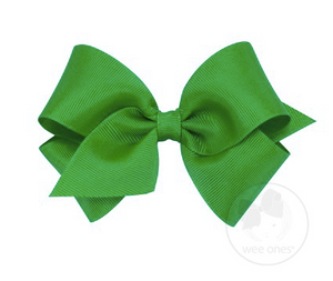Green Grosgrain Bow