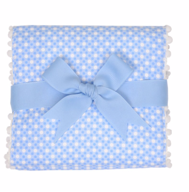 Blue Golf Fancy Fabric Burp Pad