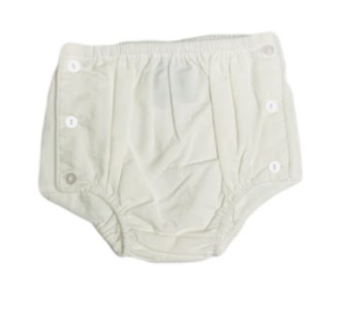 Diaper Cover w/ Buttons- White