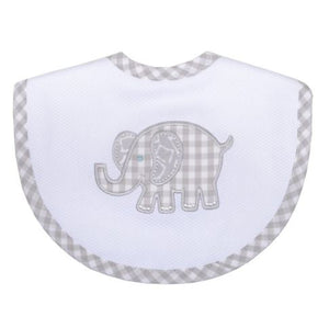 Grey Elephant Medium Bib