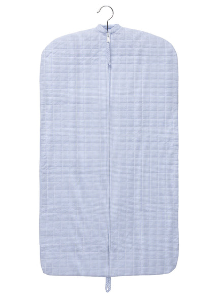Quilted Luggage - Light Blue