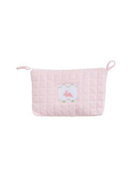 Quilted Luggage - Pink Bunny
