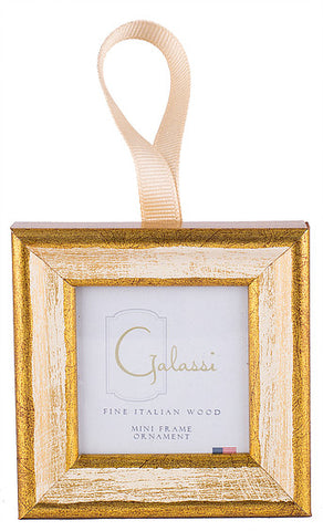 Frame Ornament-Cream/Gold