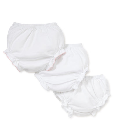 Diaper Cover - White w/ Pink