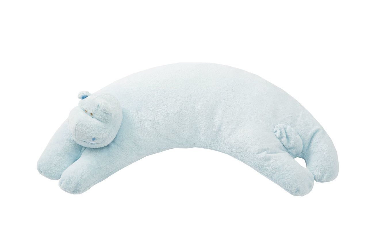 Blue Hippo Pillow