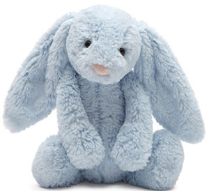 Bashful Light Blue Bunny Chime