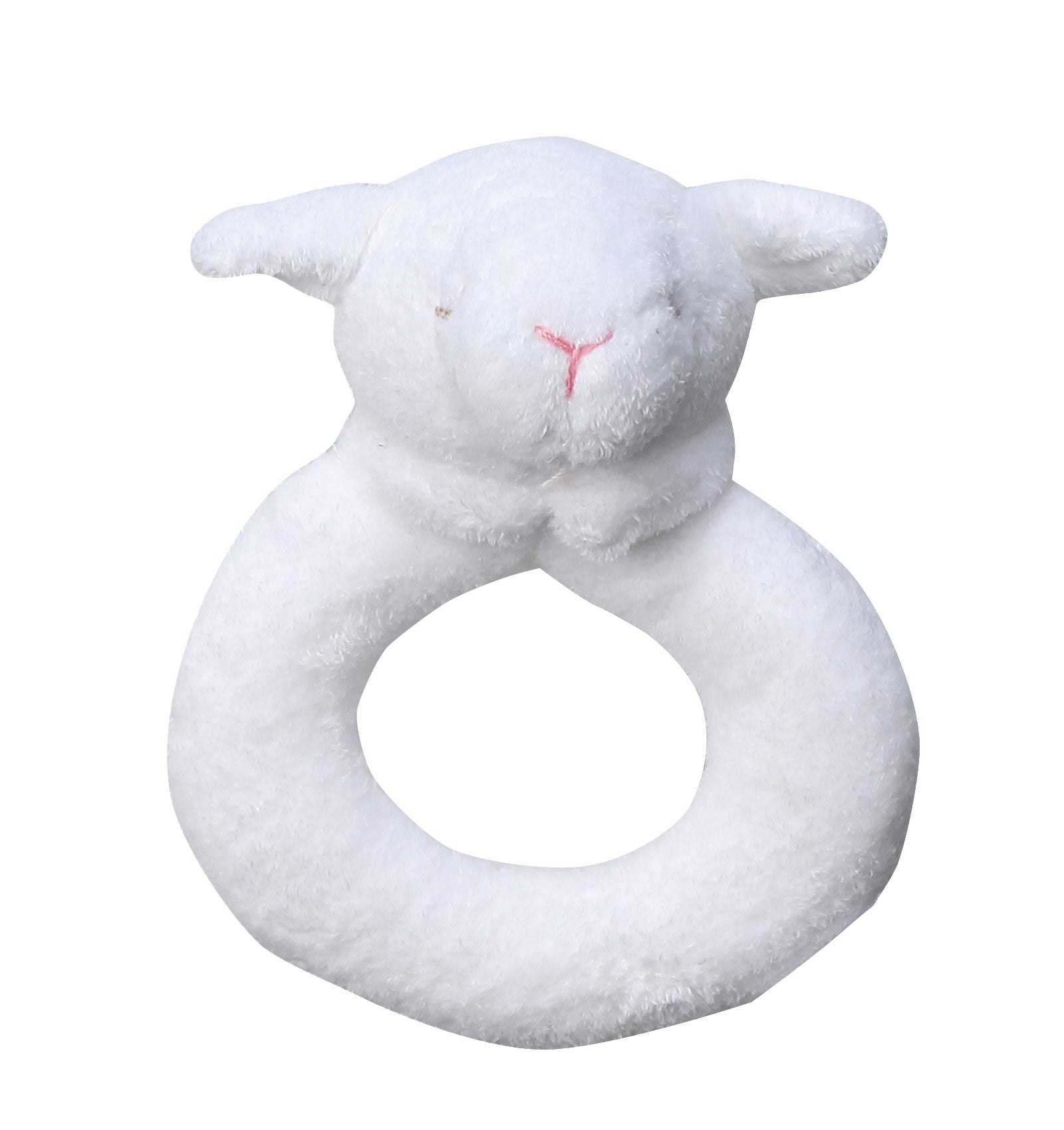 Ring Rattle- White Lamb